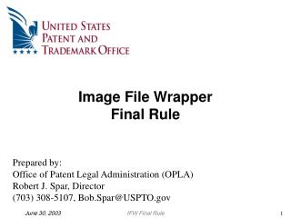 Image File Wrapper Final Rule
