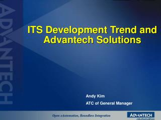 ITS Development Trend and Advantech Solutions
