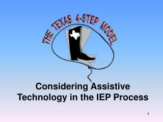 Considering Assistive Technology in the IEP Process