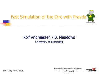 Fast Simulation of the Dirc with Pravda