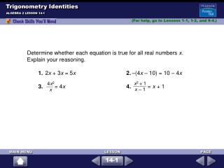 Trigonometry Identities