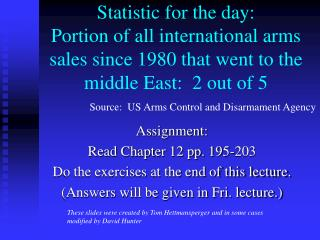 Assignment: Read Chapter 12 pp. 195-203 Do the exercises at the end of this lecture.