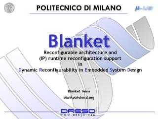 Blanket Team blanket@dresd