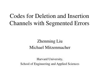 Codes for Deletion and Insertion Channels with Segmented Errors
