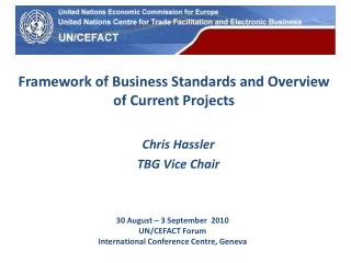 Framework of Business Standards and Overview of Current Projects