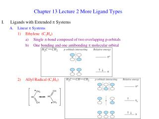 Chapter 13 Lecture 2 More Ligand Types