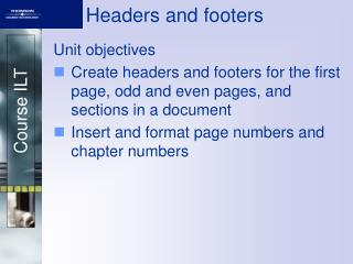 Headers and footers
