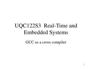 UQC122S3  Real-Time and Embedded Systems