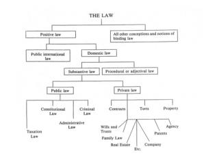 THE LAW OF OBLIGATIONS Based on consent;			Created by general law;