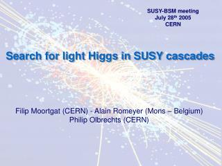 Search for light Higgs in SUSY cascades