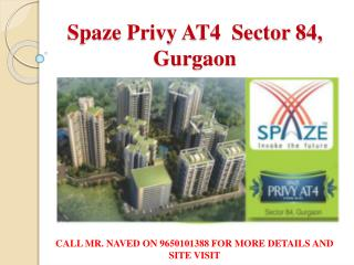 2/3/4 bhk apartments Spaze privy at4 apartments sector 84 gu