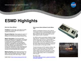 ESMD Highlights