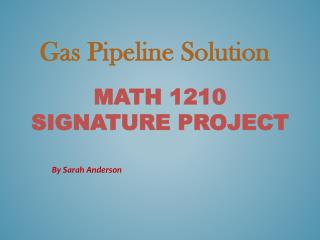 Math  12 10 Signature Project