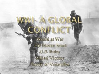 WWI- A global Conflict