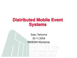 Distributed Mobile Event Systems