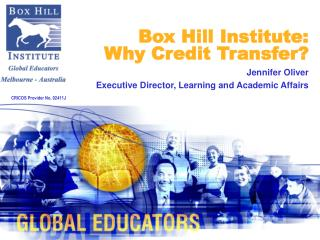 Box Hill Institute:  Why Credit Transfer?