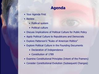 Your Agenda First Review Political system Political culture