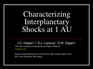 Characterizing Interplanetary Shocks at 1 AU
