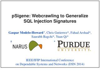 pSigene :  Webcrawling  to Generalize  SQL Injection Signatures