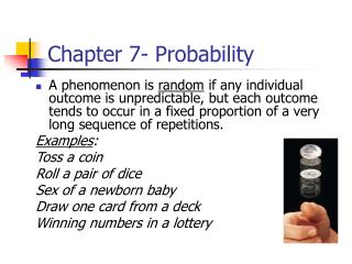 Chapter 7- Probability