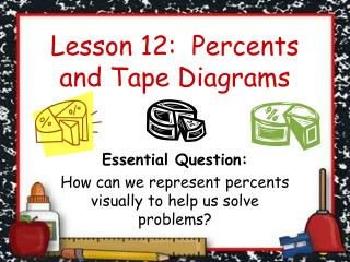Lesson 12:  Percents and Tape Diagrams