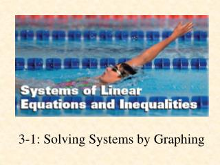 3-1: Solving Systems by Graphing