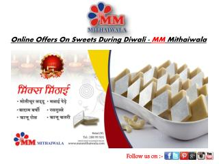 Online Offers On Sweets During Diwali - MM Mithaiwala