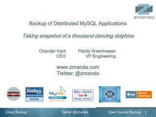 Backup of Distributed MySQL Applications
