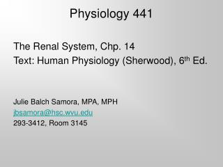 Physiology 441