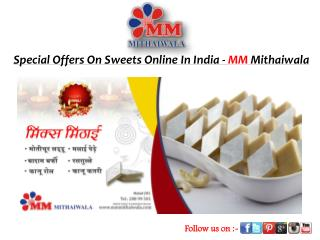 Special Offers On Sweets Online In India - MM Mithaiwala