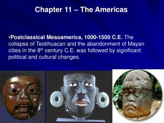 Chapter 11 – The Americas