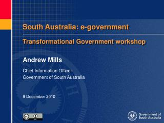 South Australia: e-government Transformational Government workshop