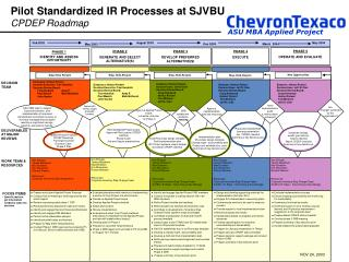 Pilot Standardized IR Processes at SJVBU CPDEP Roadmap
