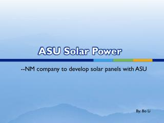 ASU Solar Power