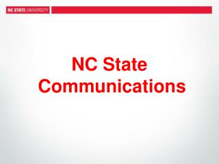 NC State  Communications