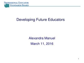 Alternative Strategies for Delivering Teacher Preparation