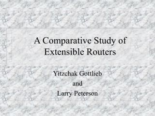 A Comparative Study of Extensible Routers