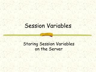 Session Variables