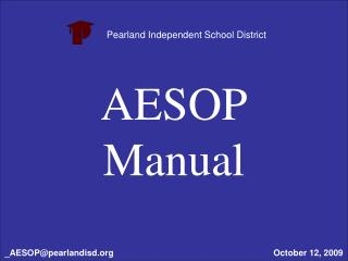 AESOP Manual