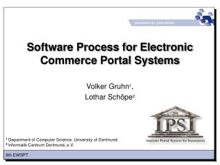 Software Process for Electronic Commerce Portal Systems