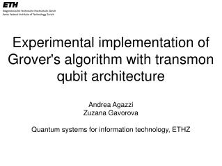Experimental implementation of Grover's algorithm with  transmon qubit  architecture