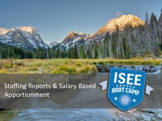 Staffing Reports & Salary Based Apportionment