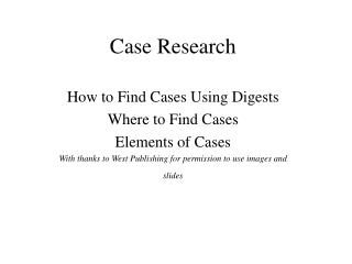 Case Research