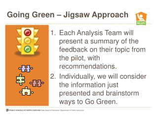 Going Green – Jigsaw Approach