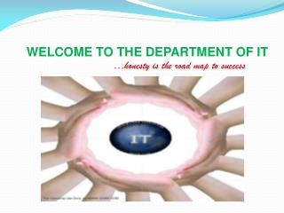 WELCOME TO THE DEPARTMENT OF IT …honesty is the road map to success