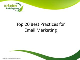 Top 20 Best Practices for Email Marketing