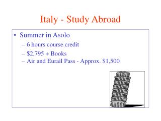 Italy - Study Abroad