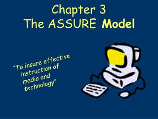 Chapter 3 The ASSURE  Model