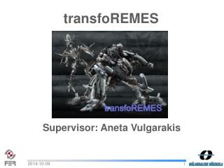 Supervisor: Aneta Vulgarakis