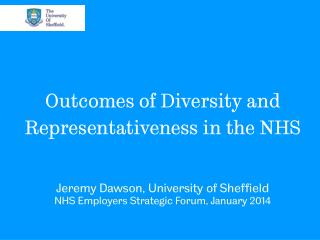 Outcomes of Diversity and Representativeness in the NHS